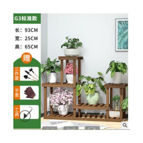 Plantes en bois à plusieurs niveaux, étagères, fleurs succulentes, présentoir en pot, jardinière intérieure extérieure (G3 sans roue)