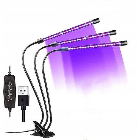 "main image of ""Planting Light Gardening Light Plant Light Plant Lighting Clip Plant Light New 3 Lights 40Led-18W"""