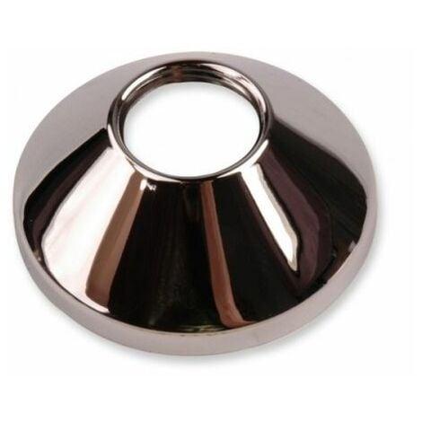 """Plaqué 1/2 """"cône chromé robinet / couvercle du robinet col rose colliers métalliques cône"""