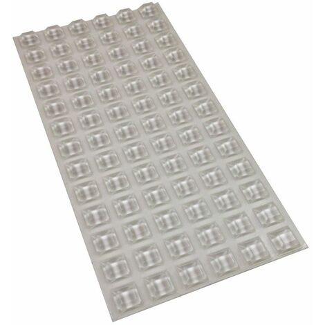 Plaque 78 blocs caoutchouc adhésif (carré)