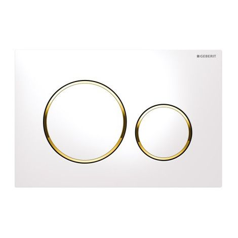 Plaque a' 2 boutons, Geberit Sigma20 New blanc-or-blanc