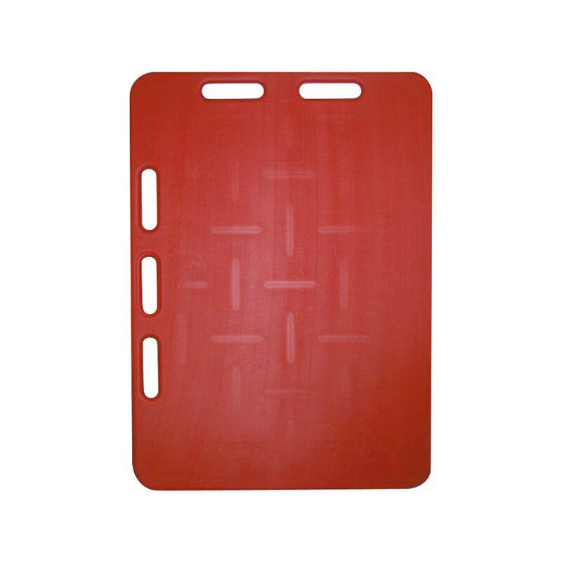 Plaque à porc rouge - 94 x 76 cm