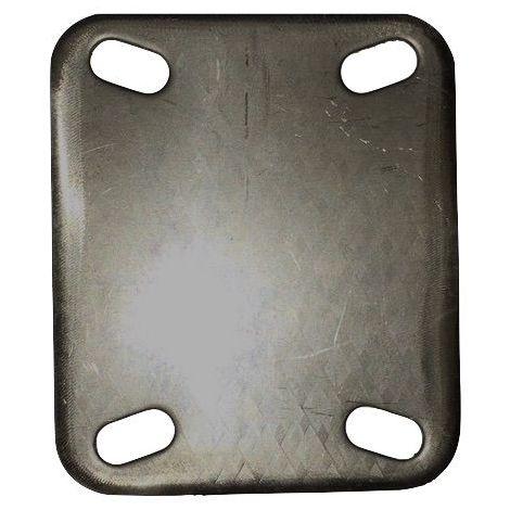 Plaque à souder 100x85 Entre-axe 80x60 épaisseur 3 mm