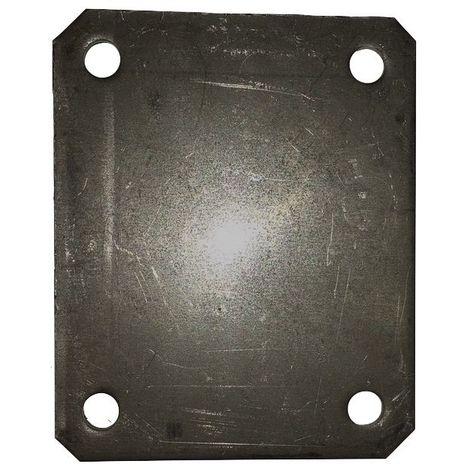 Plaque à souder 135x110 Entre-axe 105x80 épaisseur 6 mm