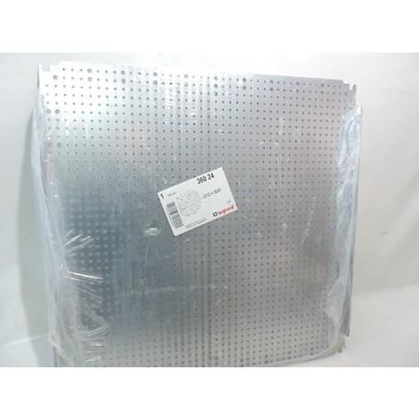 Plaque acier galvanisé perforée 600X600mm LINA 12.5 pour coffret Atlantic/Inox/Marina LEGRAND 036024