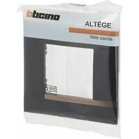 Plaque Altège collection mezzo Note cuivrée - Noir satiné - 1 poste - Bticino