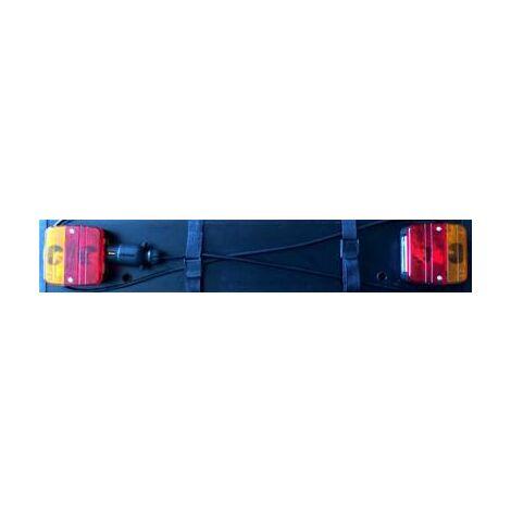 Plaque avec feux pour porte velo avec sangles 0.75 m alim 1.50 m pour porte vélo