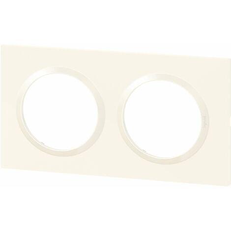 Plaque carrée Dooxie - Blanc - 2 postes - Legrand