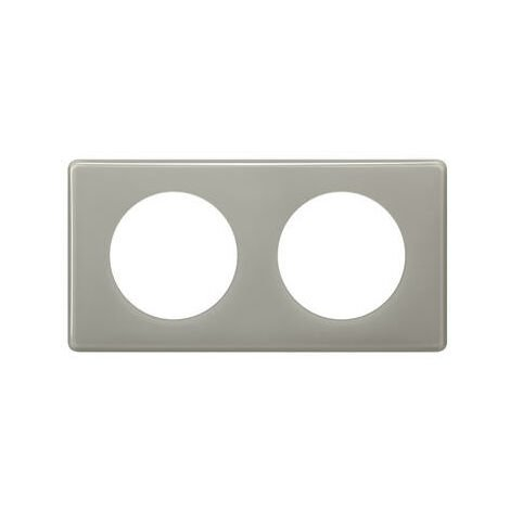 Plaque Céliane - 2 postes - Gris perlé