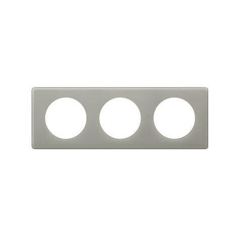 Plaque Céliane - 3 postes - Gris perlé