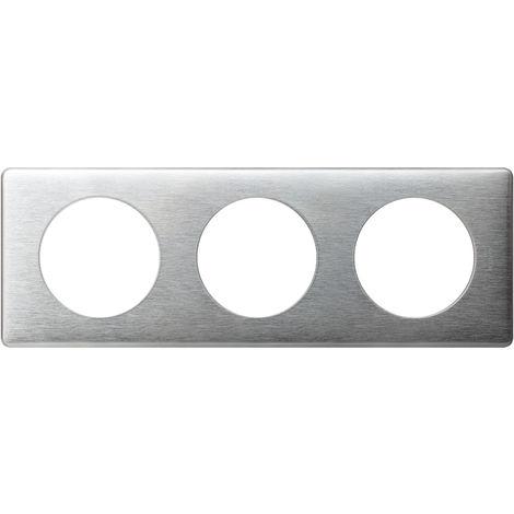 "main image of ""Plaque 3 postes Legrand - Céliane - Métal - Aluminium"""