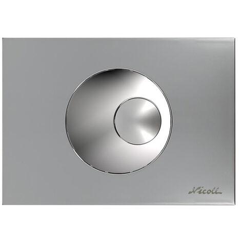 """main image of """"Plaque chrome velours 2 vol. boutons ronds chrome brillants"""""""