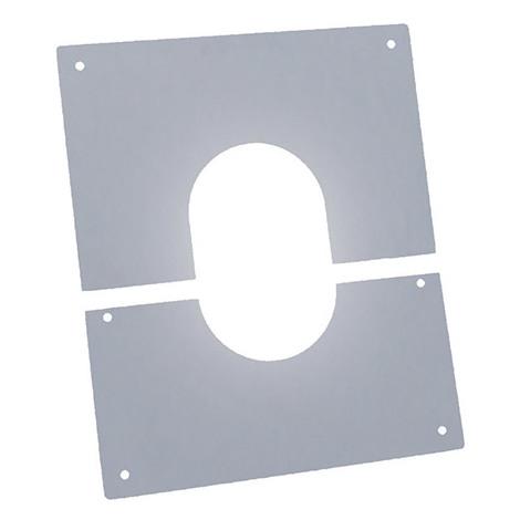 Plaque coupe feu propreté pour tuyau double paroi isolée de diamètre interne 80 mm - Plaque coupe feu propreté pour tuyau - DPI - granulé 80 mm - pour un plafond droit ou incliné de 0 à 15 degrés