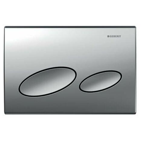 Plaque d'actionnement Geberit Kappa20 Plaque pour double affleurement par le haut / avant pour UP200, Coloris: Chrome Mat - 115.228.46.1
