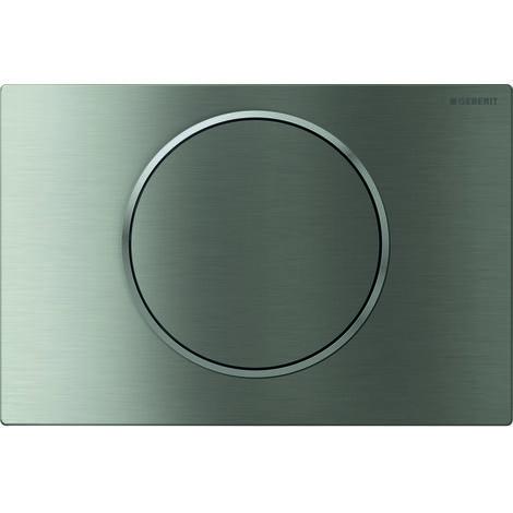 Plaque d'actionnement Geberit Sigma10 pour rincer/arrêter le rinçage, Coloris: brossé, facile à nettoyer / poli - 115.758.SN.5