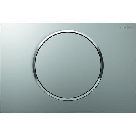 Plaque d'actionnement Geberit Sigma10 pour rincer/arrêter le rinçage, Coloris: chromé mat / chromé brillant - 115.758.KN.5