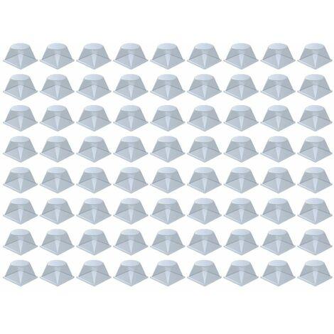 Plaque de 72 blocs adhésifs et antidérapants (carré arrondi)