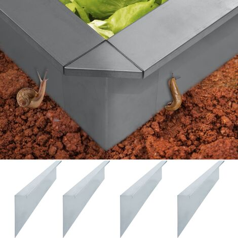 Plaque de clôture contre escargots 4 pcs Inox 50x7x25 cm 0,7 mm