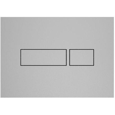 Plaque de commande 2 volumes Happy Support design REC Chromé avec boutons satinés