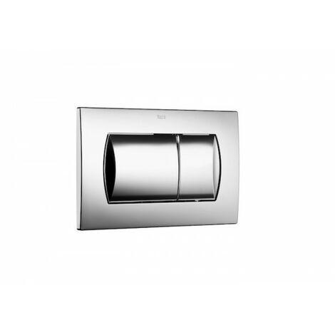 Plaque de commande double chasse pour WC suspendu IN WALL 62 Dual Chrome - ROCA A8901160B1