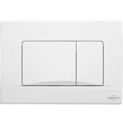 Plaque de commande Ecko Evenes - pour WC 189 blanche