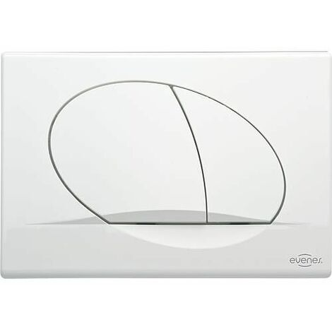 Plaque de commande ELWA Evenes - pour WC 189 blanche
