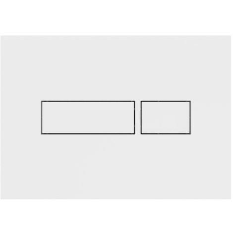 Plaque de commande NICOLL Rec - Simple câble - Blanche - PBRECB
