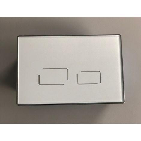 Plaque de commande sensitive blanche pour bâti Geberit UP320/UP300