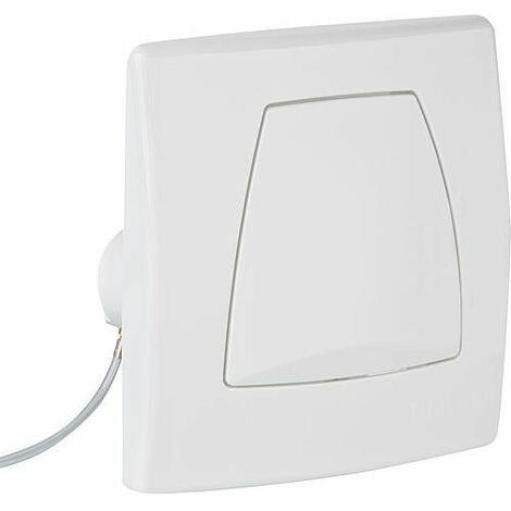 Plaque de commande Twinline pour commande urinoir, avec écoulement pneumatique, blanc alpin