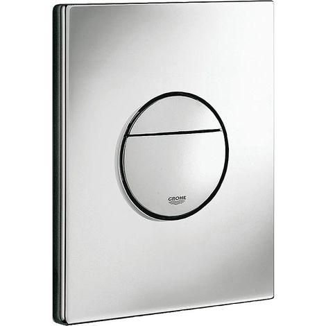 Plaque de commande WC, chromée montage vertical et horizontal