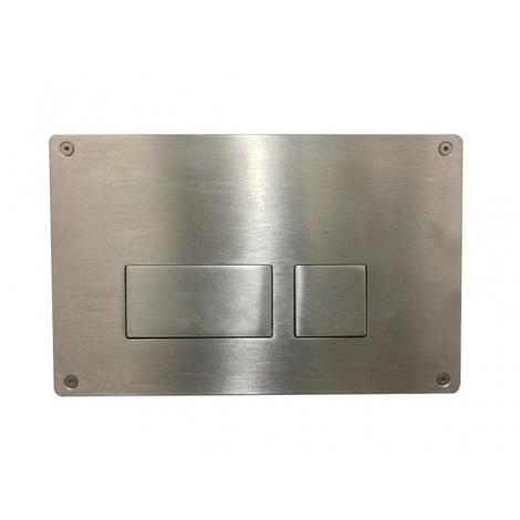 Plaque de commande wc haute résistance en inox