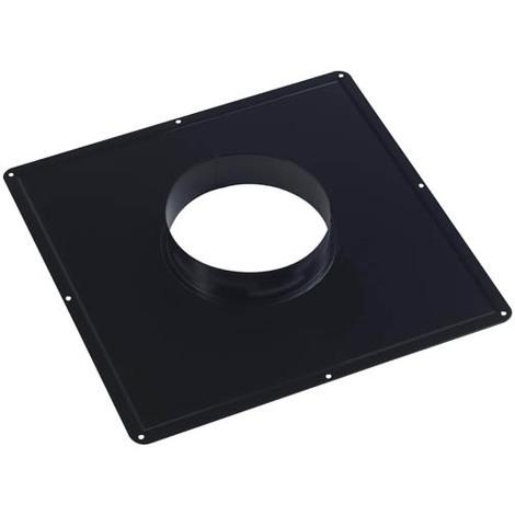 Plaque de connexion cheminée C33 noir O100/150