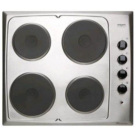 plaque de cuisson lectrique 4 feux inox 580x510mm. Black Bedroom Furniture Sets. Home Design Ideas