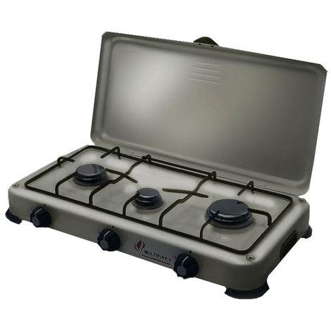 plaque de cuisson gaz portable 3 feux 4100 w silver 3. Black Bedroom Furniture Sets. Home Design Ideas