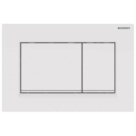 Plaque de déclenchement blanc, blanc mat Sigma30 pour rinçage double touche - Geberit