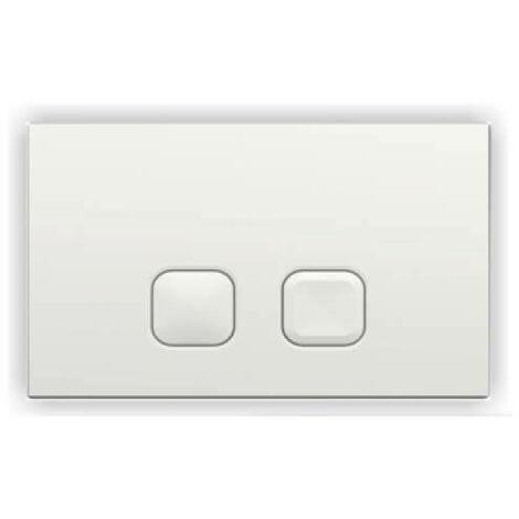 Plaque de déclenchement blanche pour bâti-support