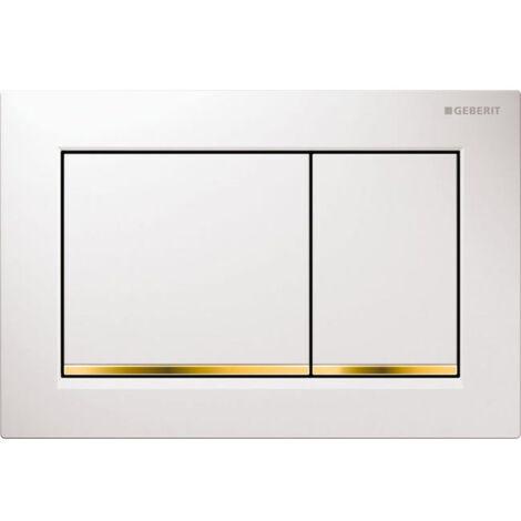 """main image of """"Geberit Plaque de déclenchement OMEGA 20 - Blanc et chromé mat (115.085.KL.1)"""""""
