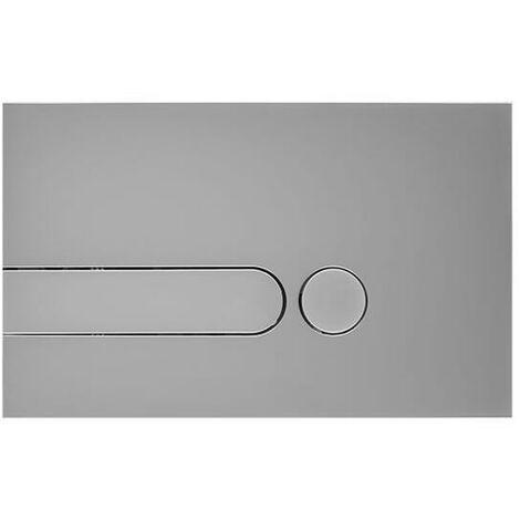 Plaque de Déclenchement WC Argentée 15x24cm