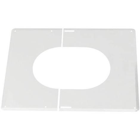 Plaque de finition 0°-30° blanc ISOTEN O150 ext.