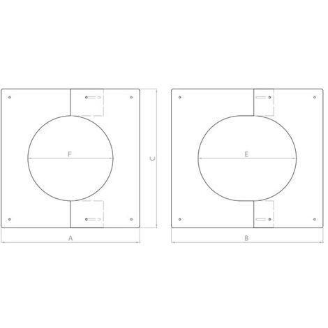 Plaque de finition 0° a 30° inox 180