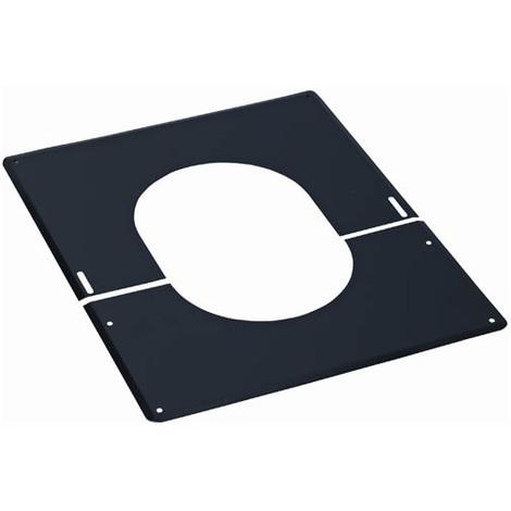 Plaque de finition 0° à 30° inox 180 noire