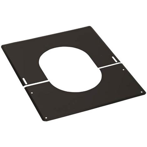 Plaque de finition 30° à 45° inox Ø150 noire