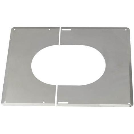 Plaque de finition 30° a 45° inox 250