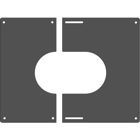 Plaque de finition carrée grise Ø 200 mm