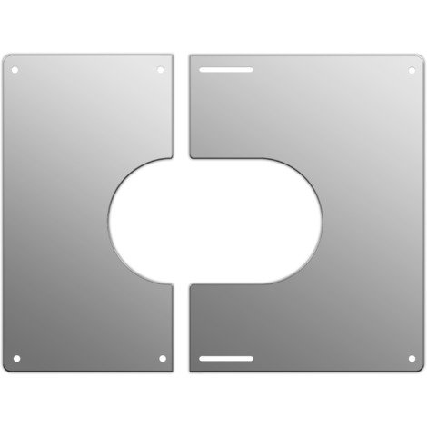 Plaque de finition carrée inox Ø 200 mm