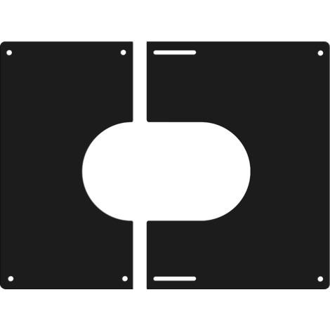 Plaque de finition carrée noire Ø 130 mm