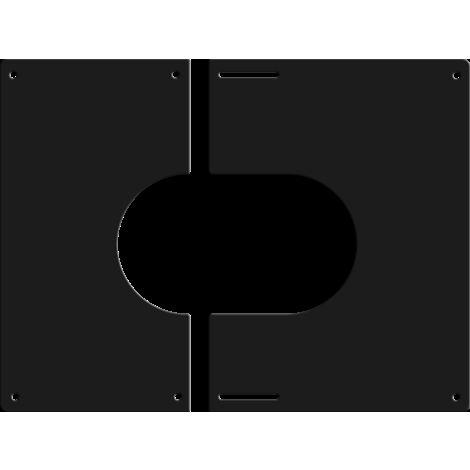Plaque de finition carrée noire Ø 150 mm