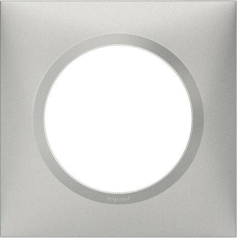 Plaque de finition Dooxie Aluminium - 1, 2, 3 ou 4 postes / Legrand