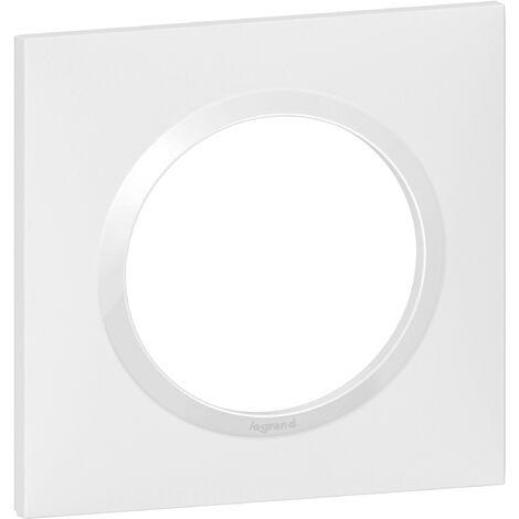 "main image of ""PLAQUE 1P DECO BLANC CHROME DOOXIE"""