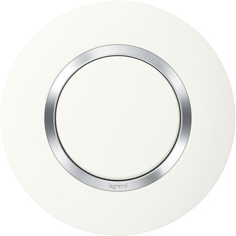 Plaque de finition Dooxie Blanc & Chrome - 1, 2, ou 3 postes / Legrand